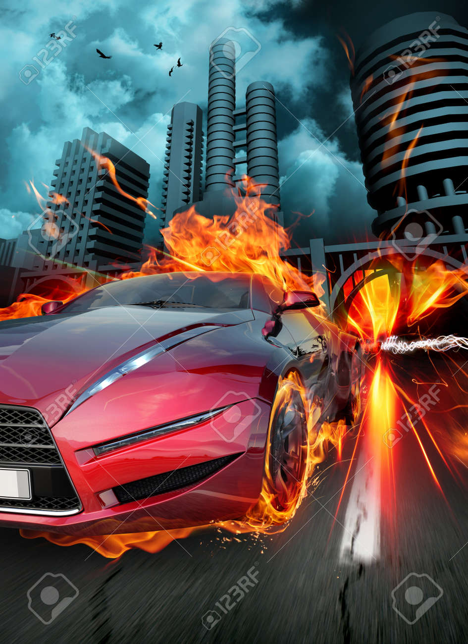 Race. Original car design. Stock Photo - 7599642