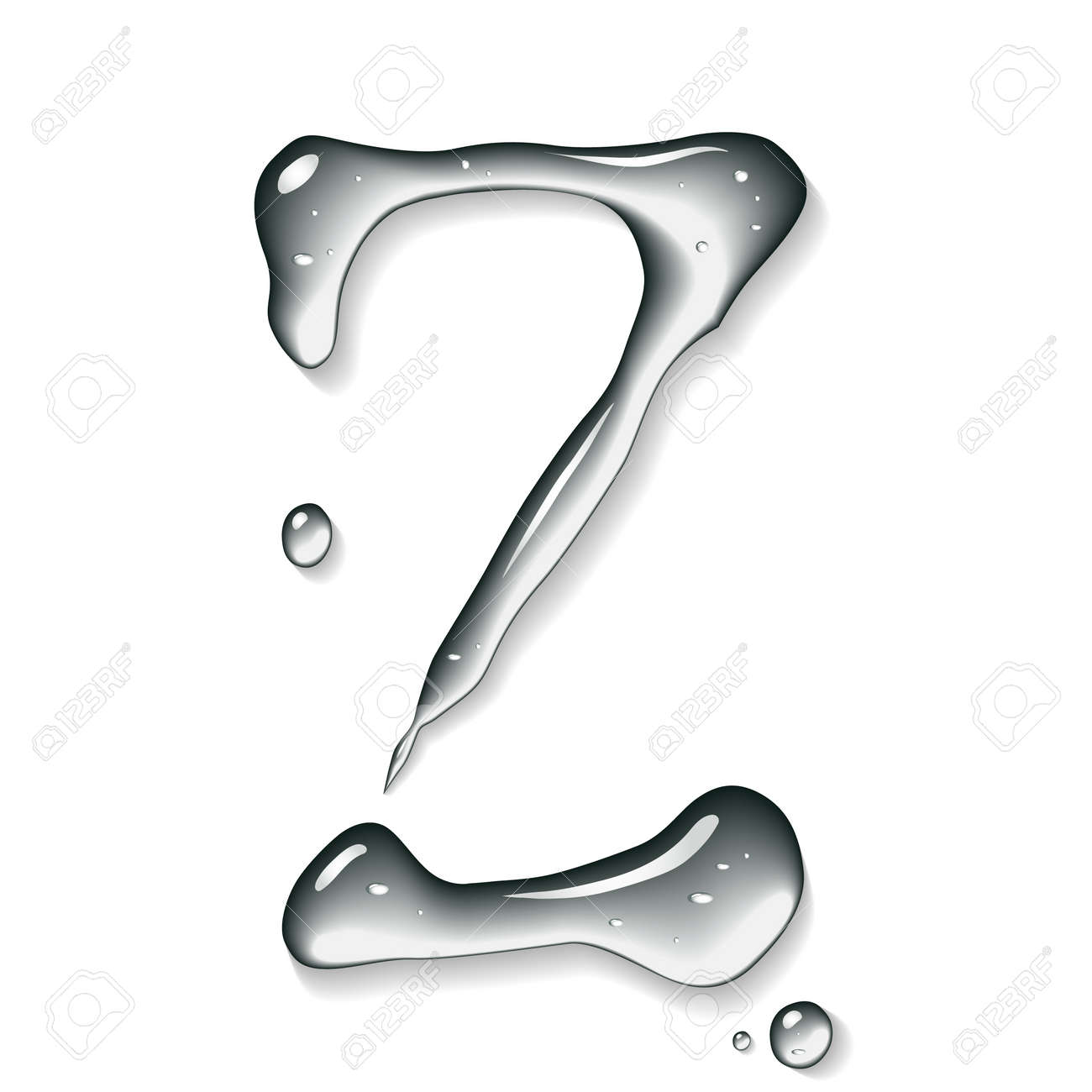 Water letter Stock Photo - 7599702