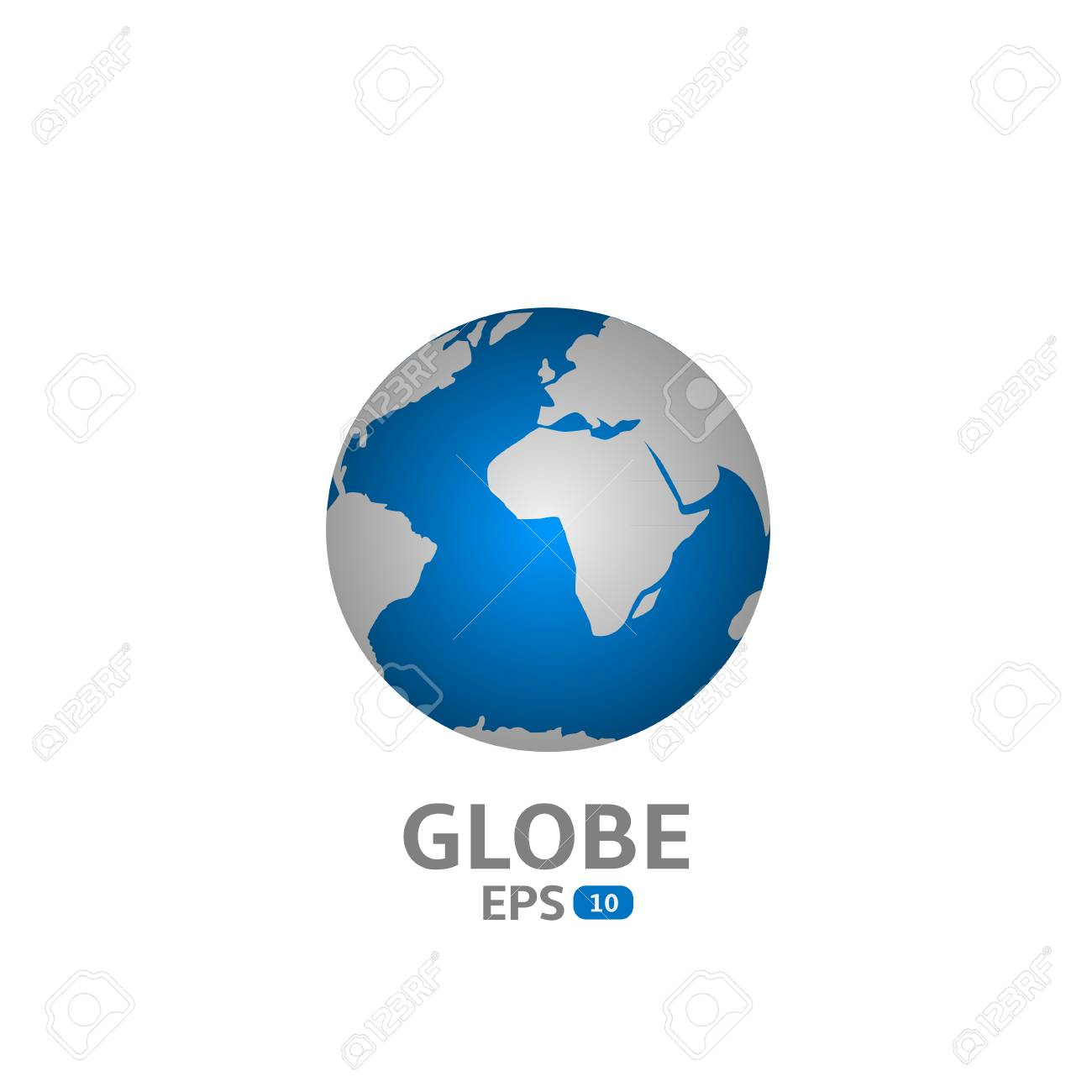 World map blue globe icon vector illustration royalty free world map blue globe icon vector illustration stock vector 43184487 gumiabroncs Images