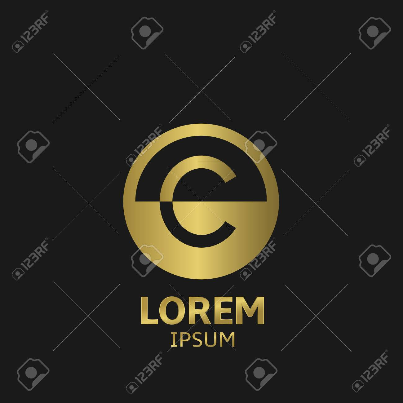 golden letter c logo template vector illustration royalty free