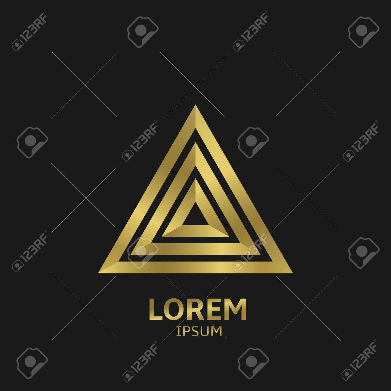 Golden triangular golden delta symbol vector illustration golden triangular golden delta symbol vector illustration stock vector 49991288 buycottarizona