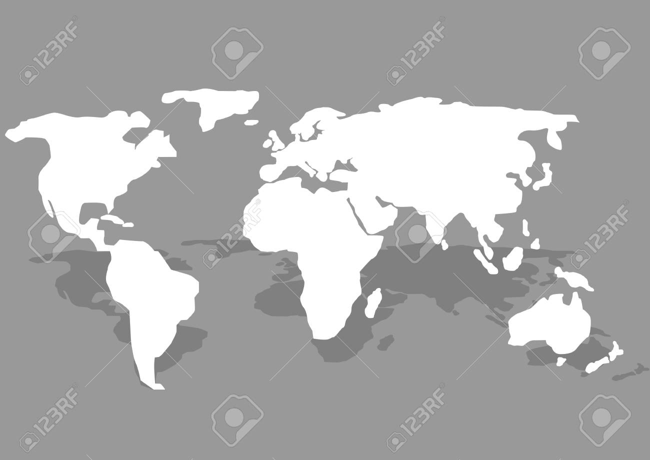 White world map on the grey background vector illustration royalty vector white world map on the grey background vector illustration gumiabroncs Gallery