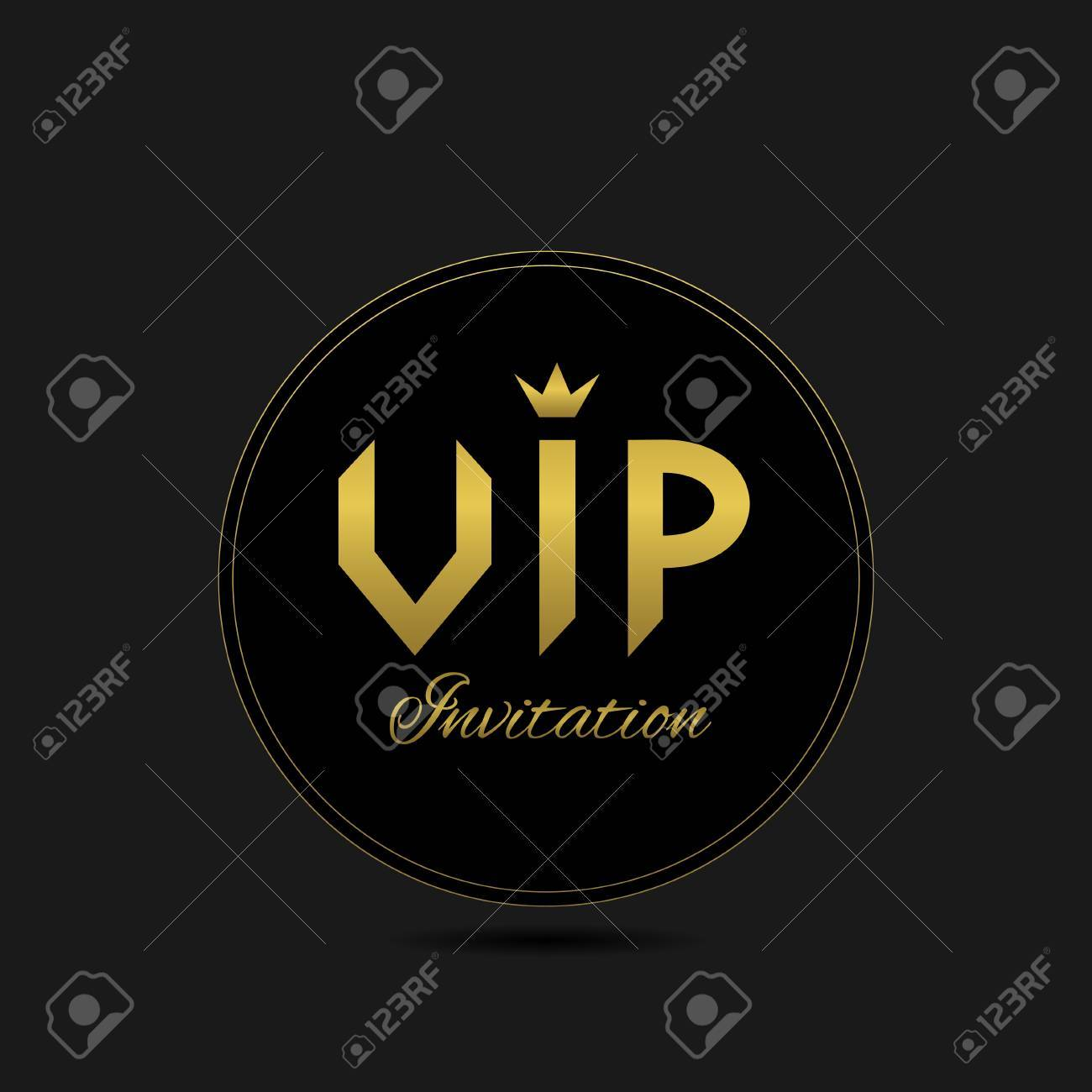 Black vip invitation card for celebrity luxury symbol vector black vip invitation card for celebrity luxury symbol vector illustration stock vector 51836315 stopboris Image collections