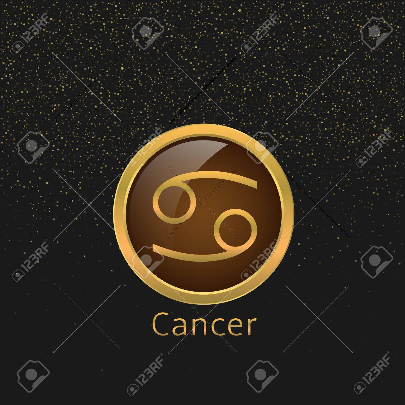 Cancer zodiac sign cancer abstract symbol cancer golden icon cancer zodiac sign cancer abstract symbol cancer golden icon stock vector 58015751 biocorpaavc Gallery