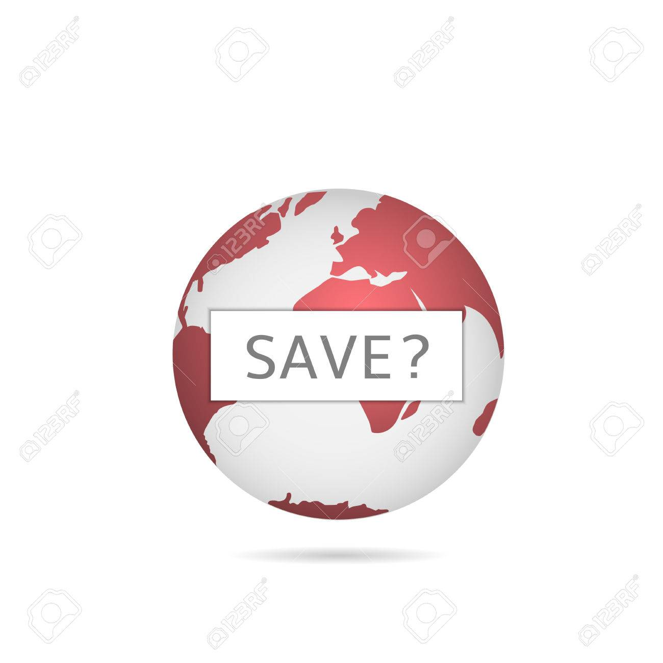 Red earth illustration red world map game over ecological red world map game over ecological apocalypse stock vector gumiabroncs Images
