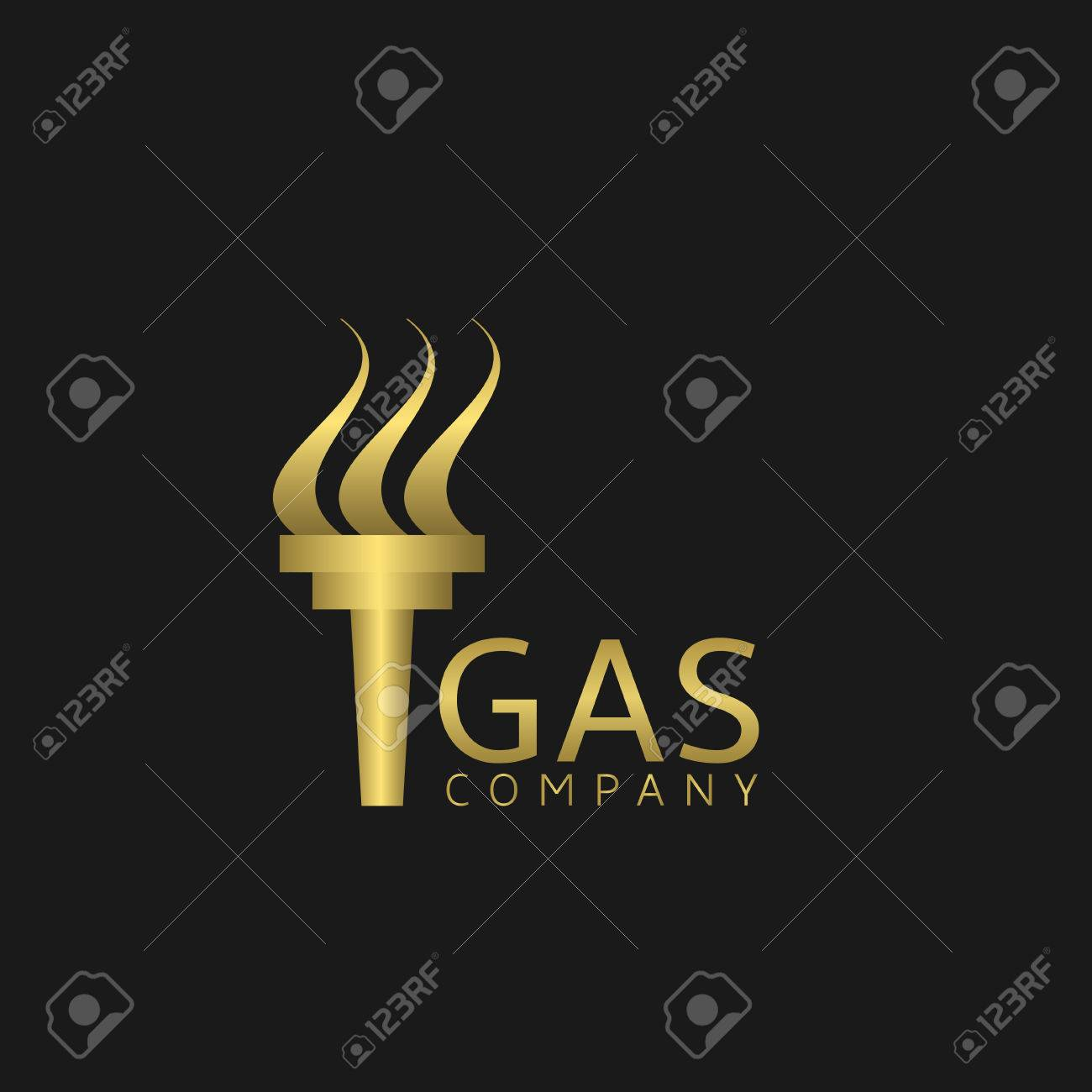 Gas Company Golden Emblem Gas Corporation Sign Royalty Free