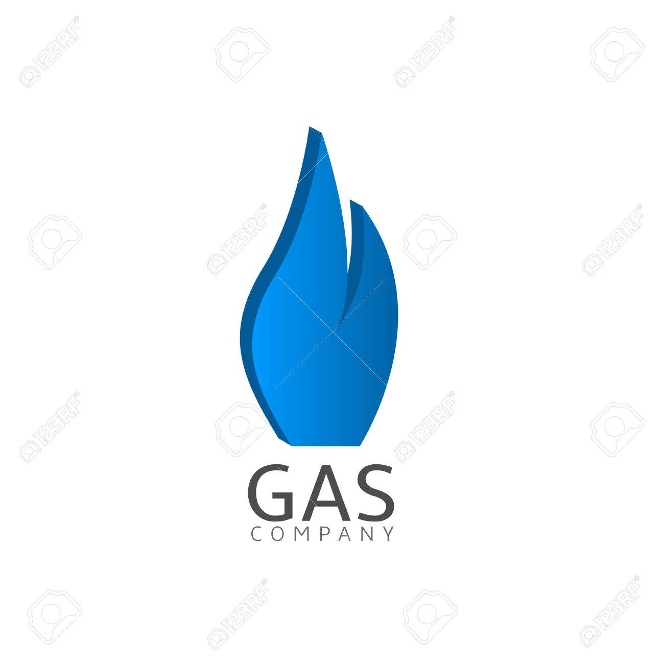 Gas Company Blue Fire Emblem Gas Corporation Sign Royalty Free