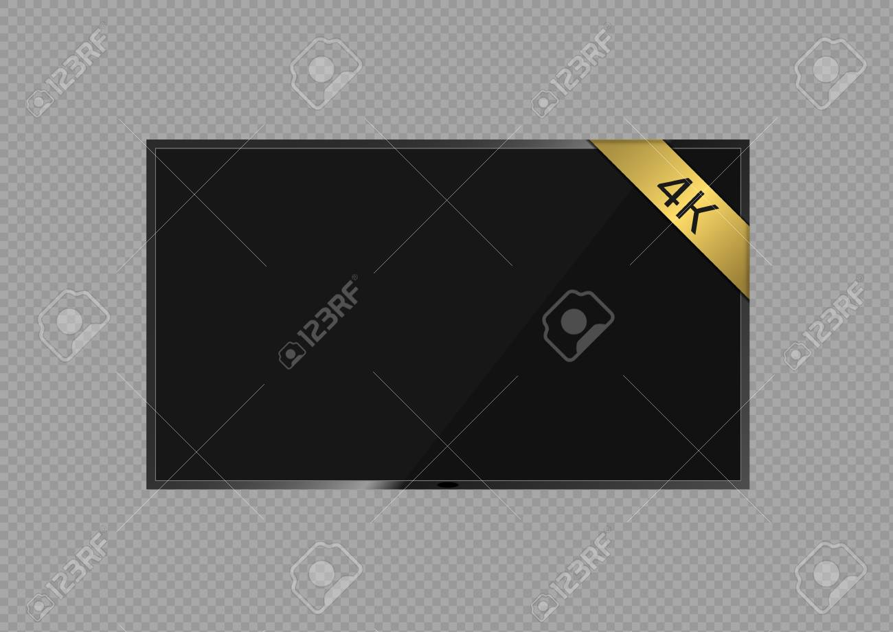 ultra hd 4k tv screen. high resolution vector illustration royalty