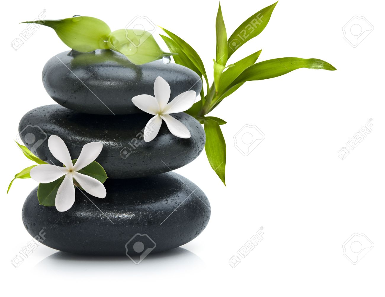 Spa still life with white flowers Stock Photo - 4758977