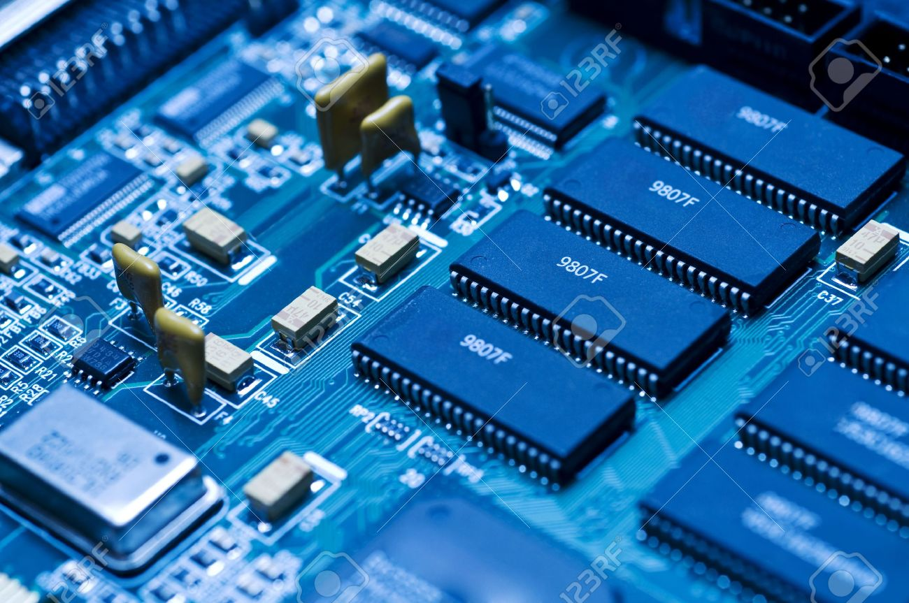 blue electronic circuit close up stock photo picture and royalty