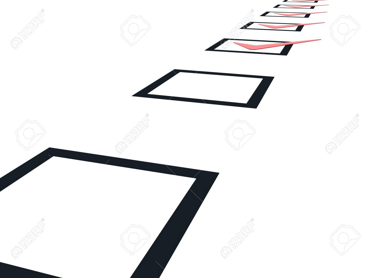 Checklist with red marks isolated on white Stock Photo - 6371812