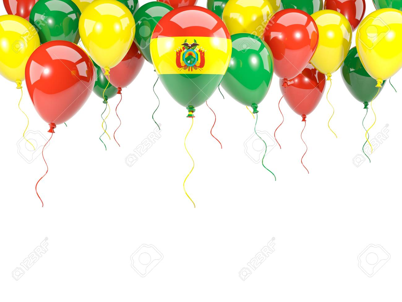 Flagge Von Bolivien, Mit Dem Ballonrahmen Lokalisiert Auf Weiß. 3D ...