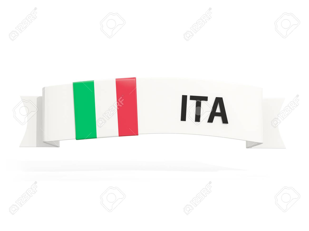 Flag Of Italy On Banner And Country Code Isolated On White 3d Stock Photo Picture And Royalty Free Image Image 71362901