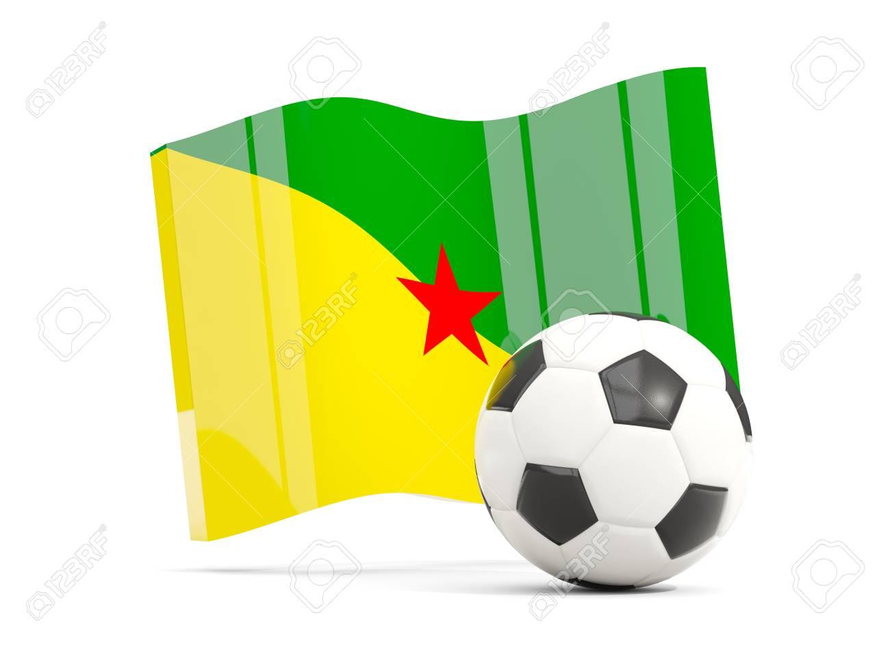 白で隔離フランス領ギアナの旗を...