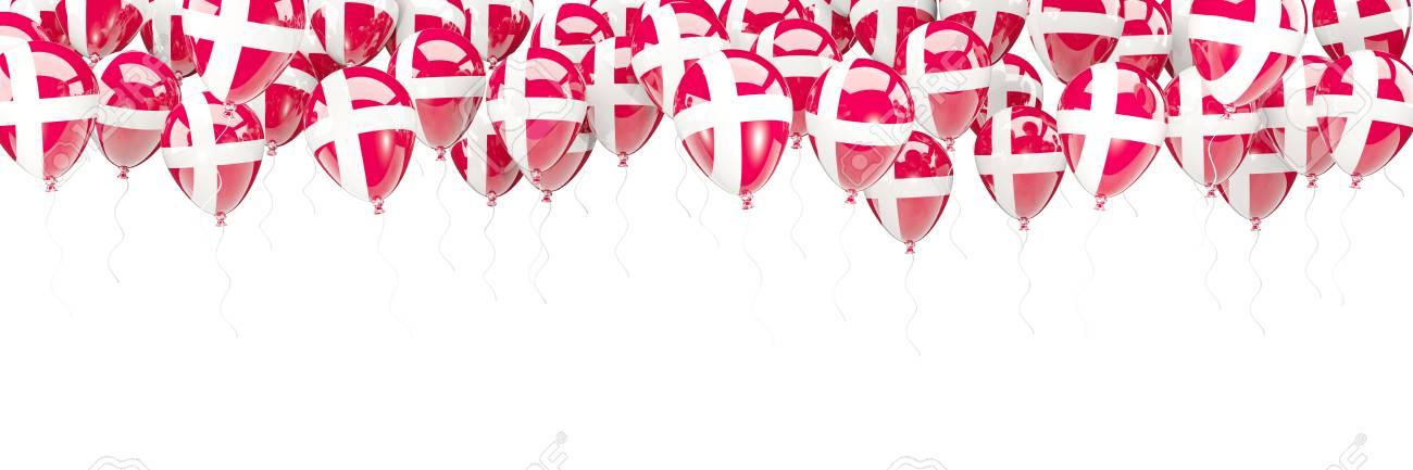 Ballonrahmen Mit Der Flagge Von Dänemark Lokalisiert Auf Weiß. 3D ...