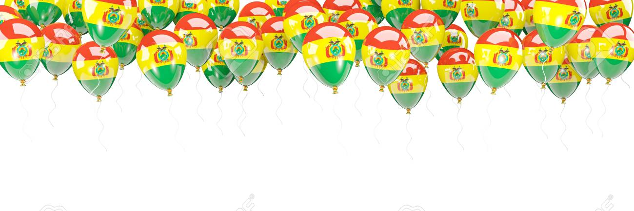 Ballonrahmen Mit Der Flagge Von Bolivien Lokalisiert Auf Weiß. 3D ...