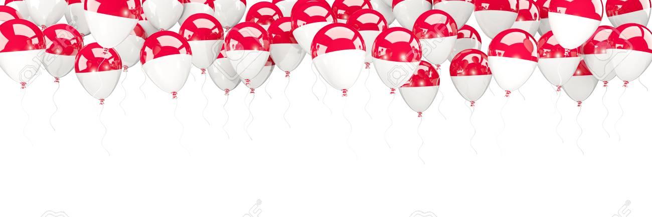 Ballonrahmen Mit Der Flagge Von Monaco Lokalisiert Auf Weiß. 3D ...