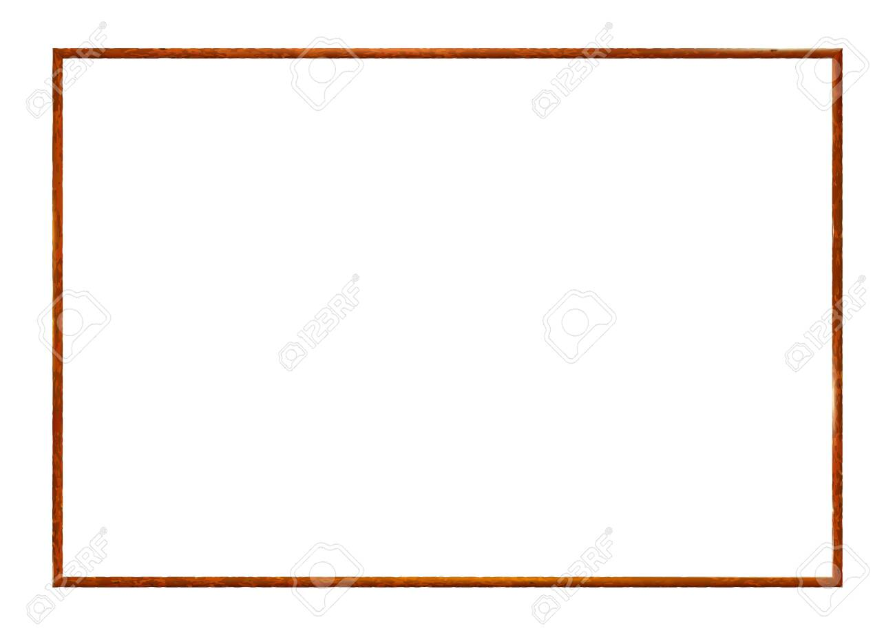 Rectangle rusty frame, realistic old metal isolated on white background. Corroded steel photoframe template. For picture. Vector illustration. - 140891580