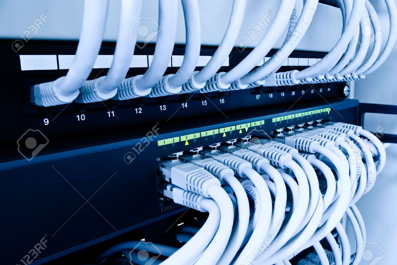 cables patch panel and network switch Stock Photo - 9237977