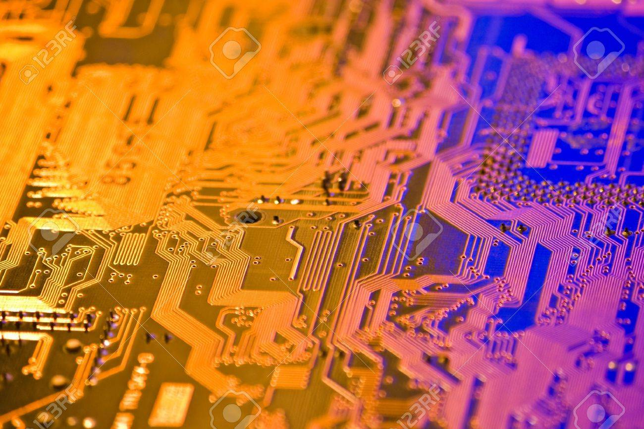 High Technology Background With Electronic Circuit Board Stock Photo Integrated Circuits Used As Royalty Free Photos 10021311