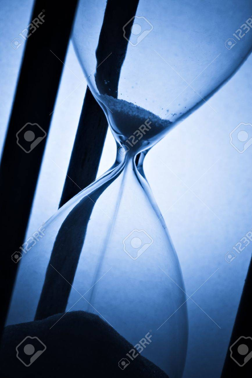 detail of hourglass on blue - 11741568