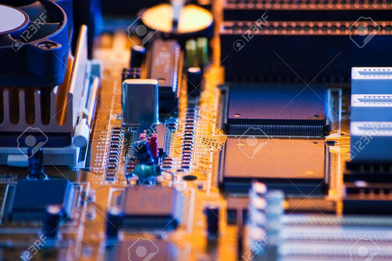 computer board with shallow depth of field - 12826291