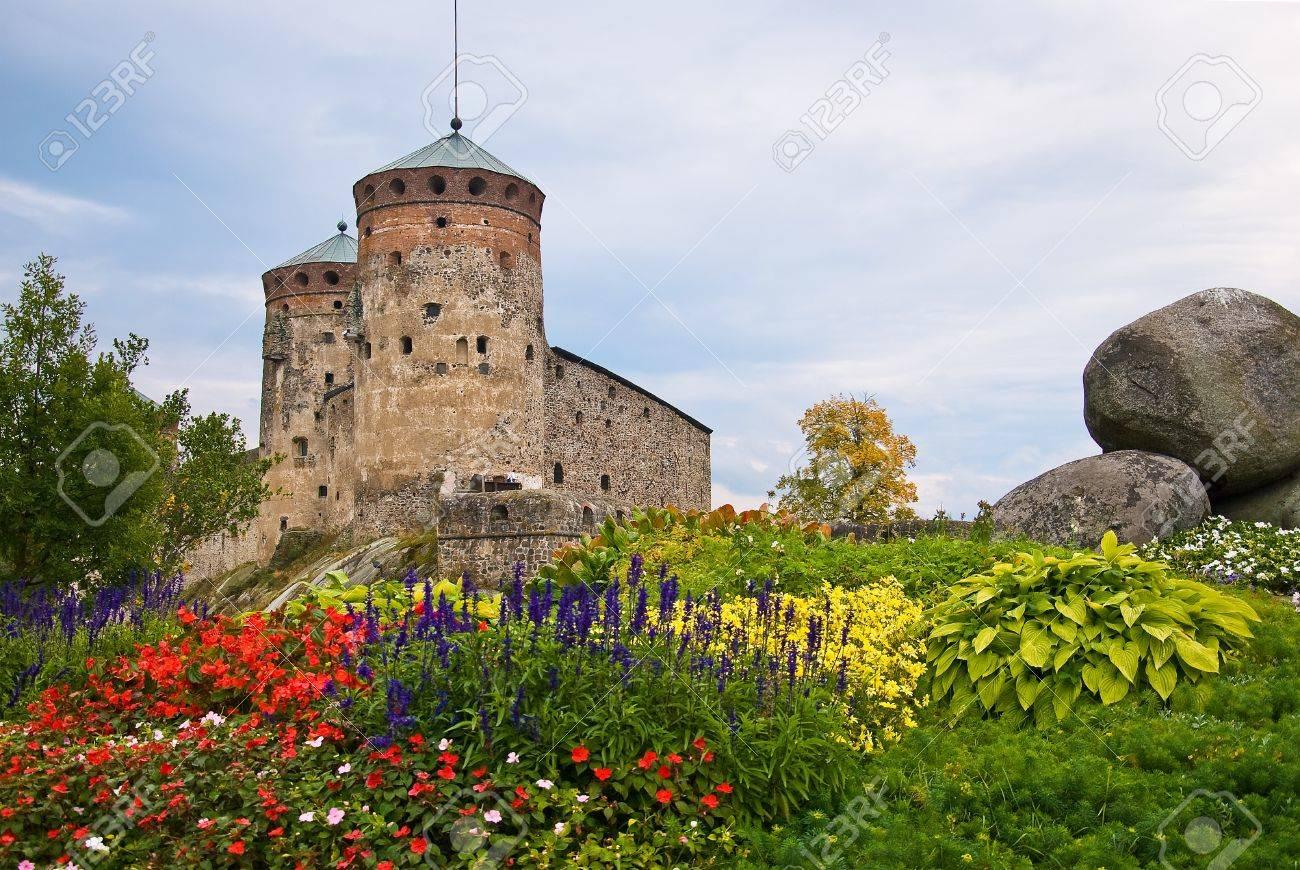Olavinlinna medieval castle in eastern Finland in the city of Savonlinna - 13607415