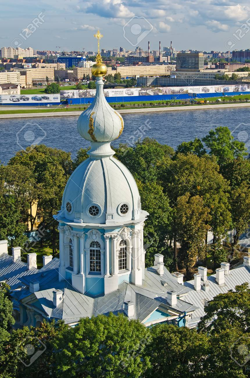 View of St. Petersburg from the bell tower of the Smolny Cathedral - 33614681
