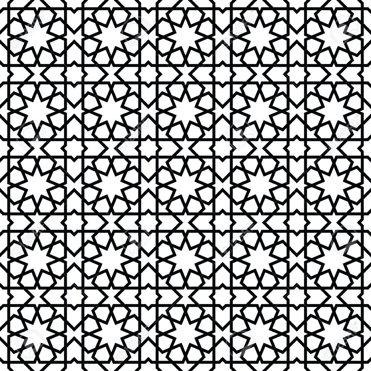 Moroccan Style Mosaic Ornament. Seamless Mosaic Tile Pattern ...