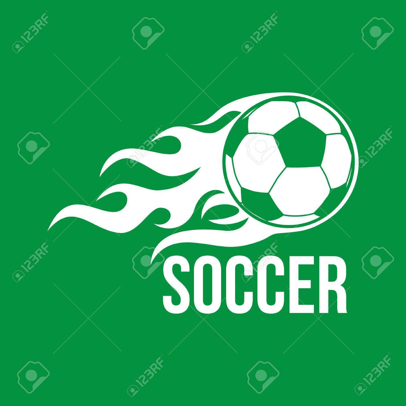 3855b55da6781 Foto de archivo - Icono del balón de fútbol. logotipo del fútbol.  ilustración vectorial