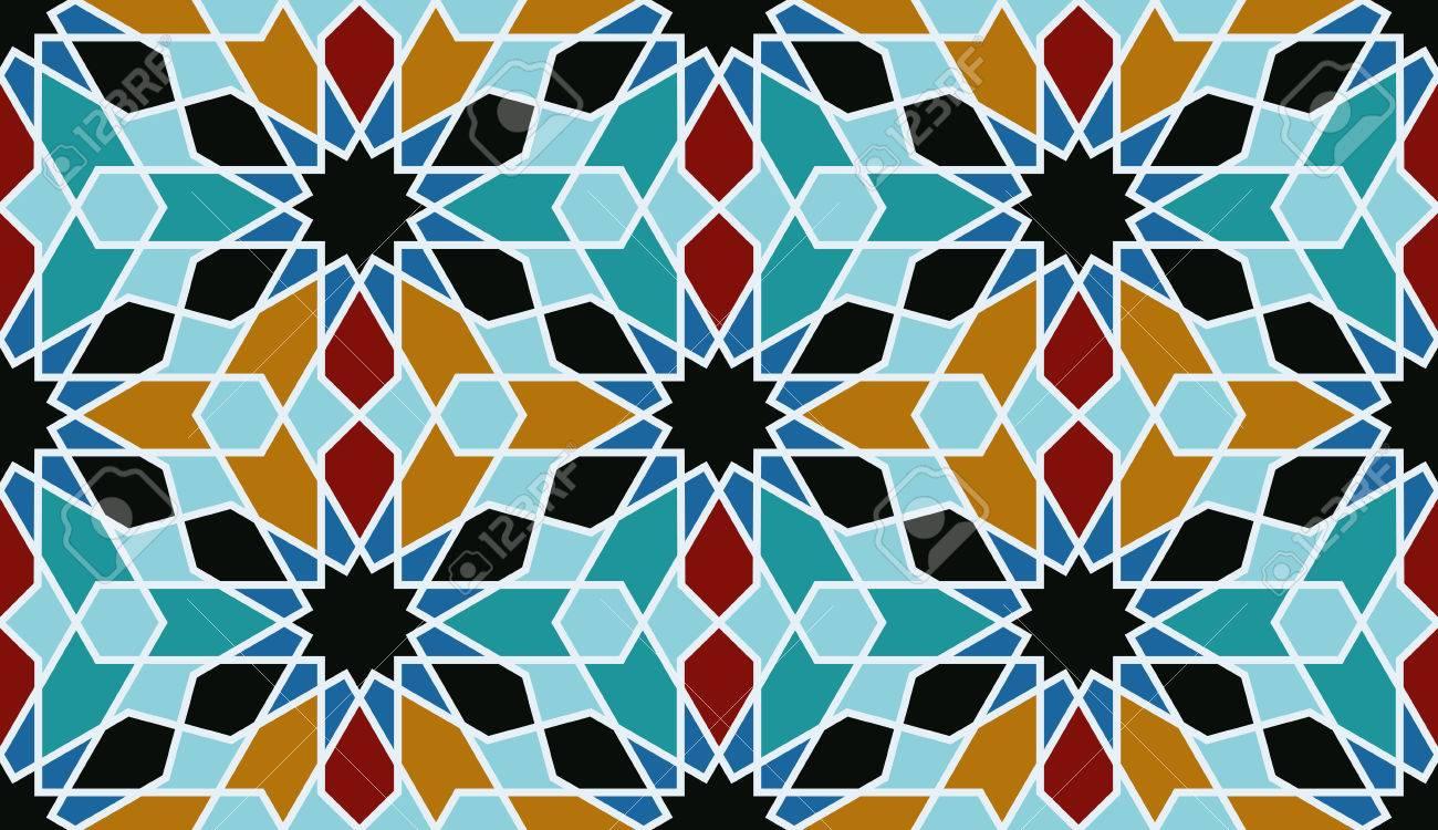 Oosterse mozaïek decoratie marokko wandtegels vector illustratie