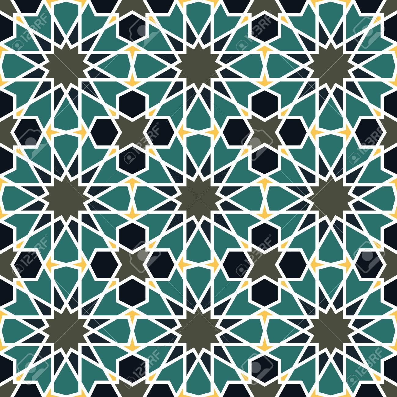 Wonderbaar Naadloos Patroon In Marokkaanse Stijl. Mozaïek Tegel. Islamitische CG-27