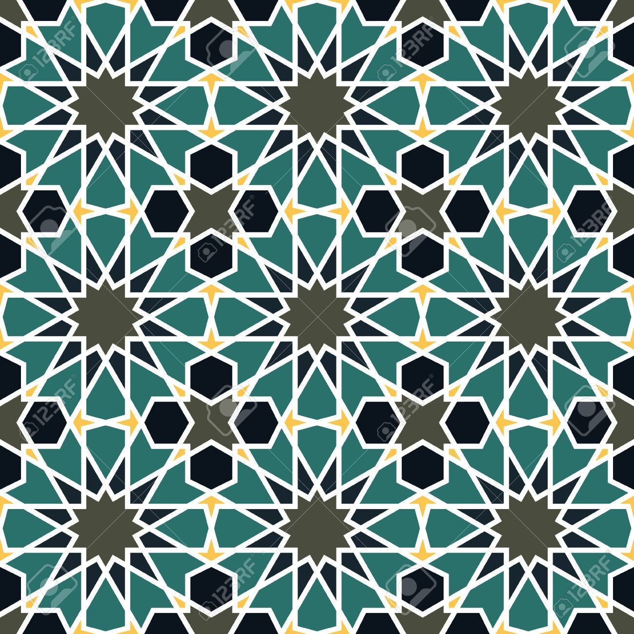 Seamless Pattern In Moroccan Style. Mosaic Tile. Islamic Traditional ...