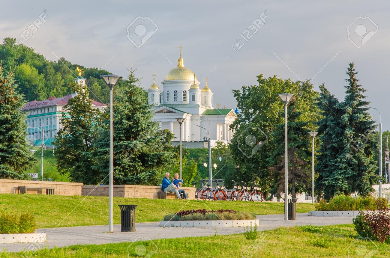 Nizhny Novgorod, Russia - August, 2020: Gate Church of St. Andrew the First-Called in Nizhny Novgorod - 162098248