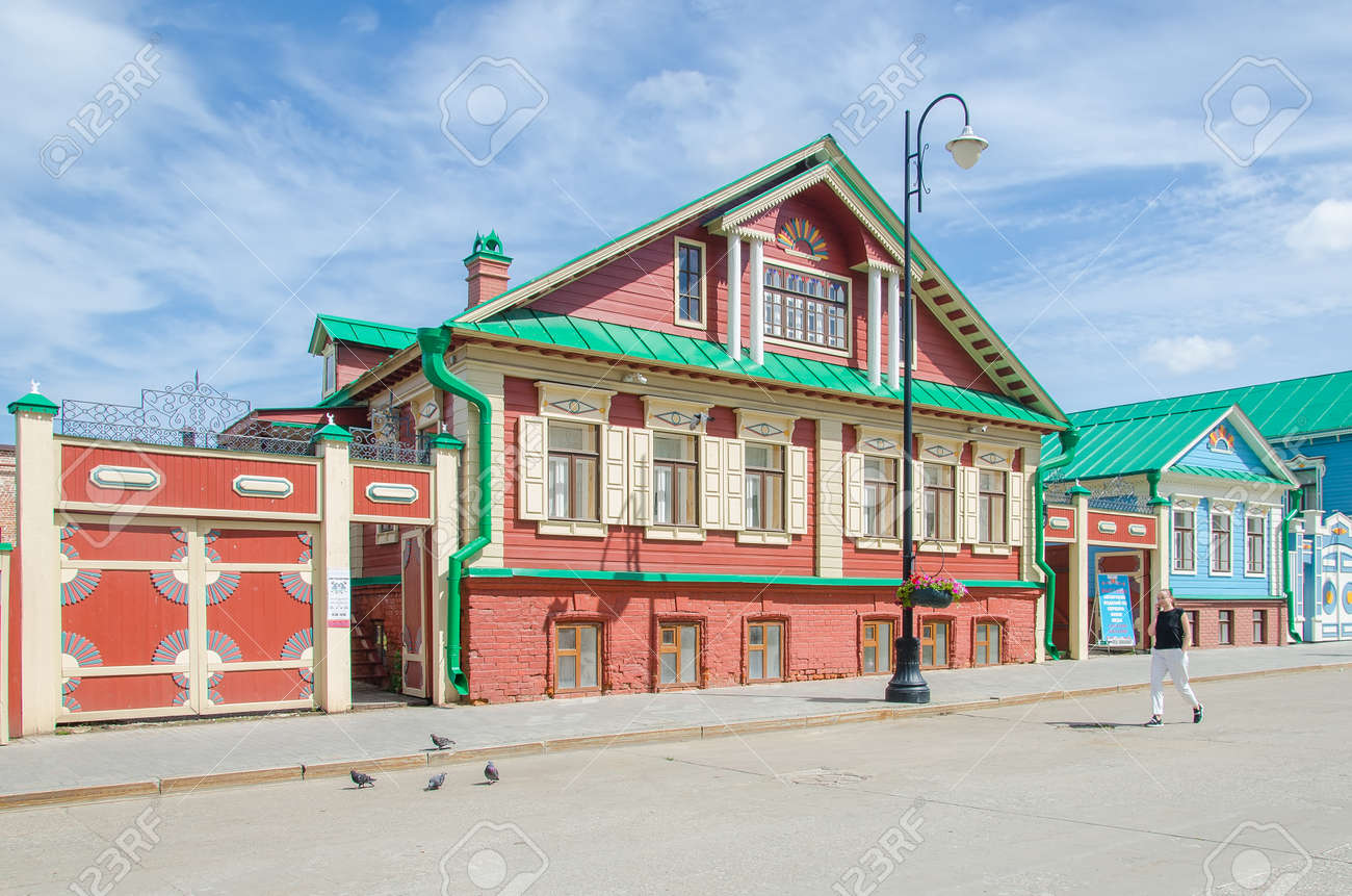Kazan, Republic of Tatarstan, Russia, August 2020 - Historical quarter: Old Tatar settlement Kazan - 166777340