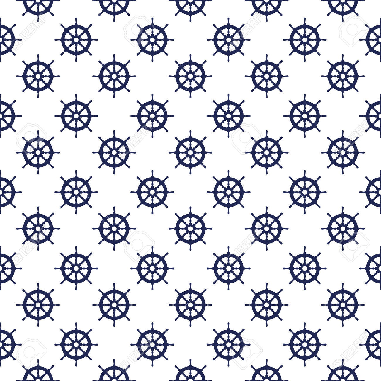 Seamless nautical pattern with steering wheels. Design element for wallpapers - 170794896