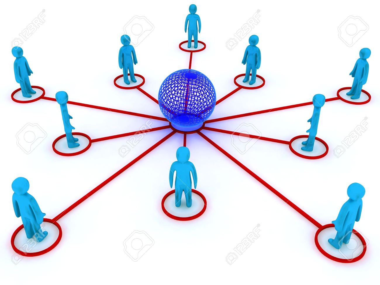 Concept image representing global networking. This image is 3d render. Stock Photo - 4914832