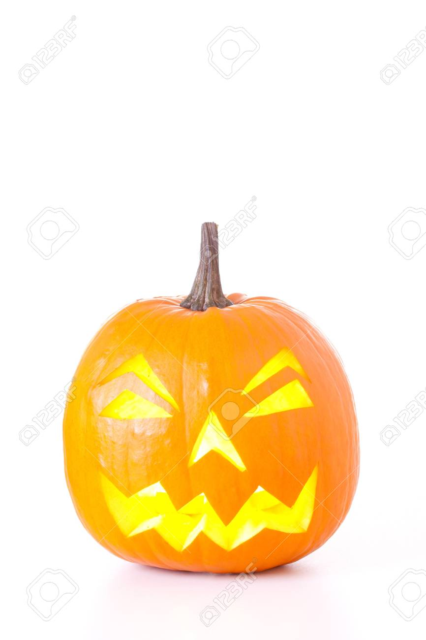 Halloween Jack O Lantern isolated on white background. Stock Photo - 7894306