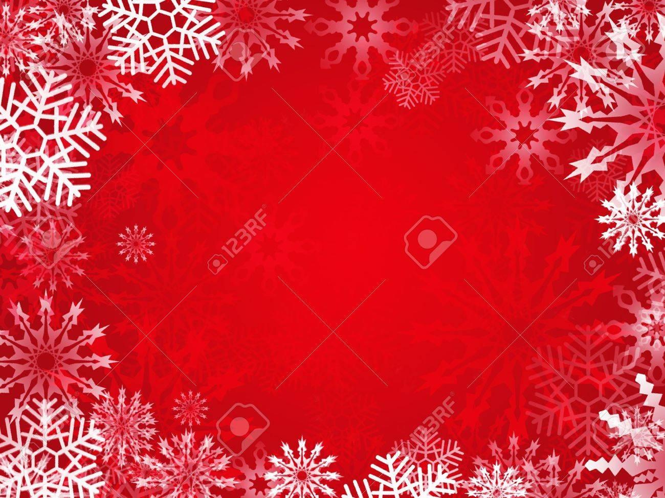 Christmas background with snowflake frame Stock Photo - 7978654