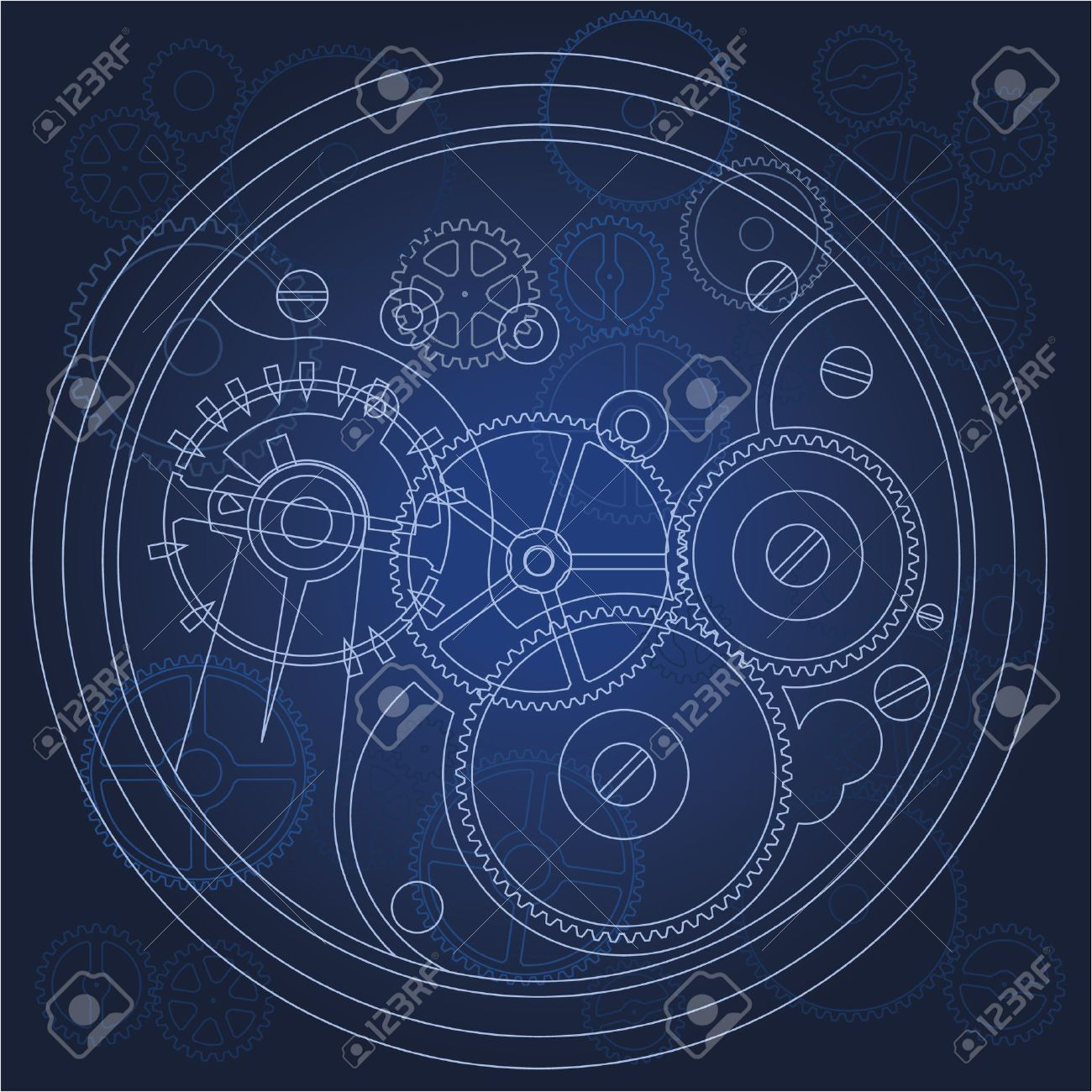 gears bluprint Stock Vector - 8797477