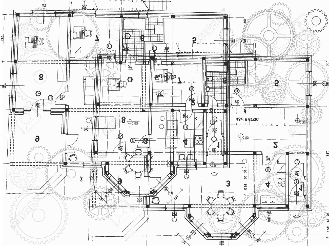 vector architectural plan
