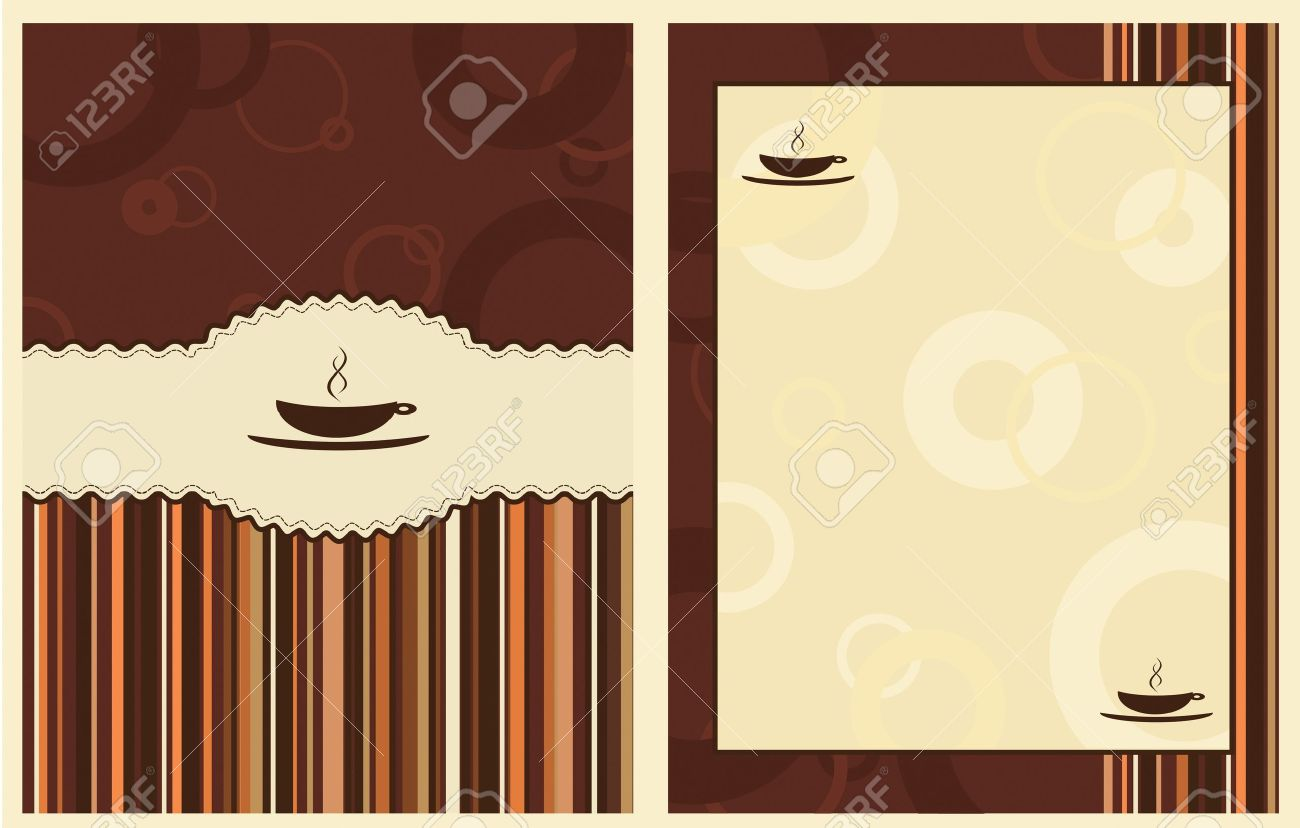 Cafe Menu Design Background