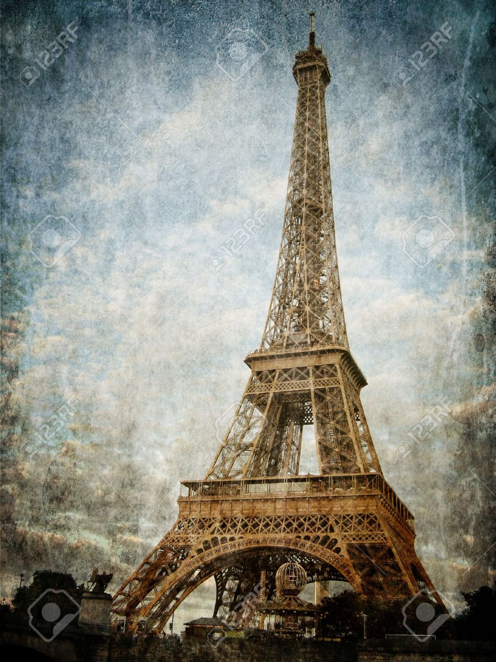 Vintage images of Eiffel Tower - 14602648