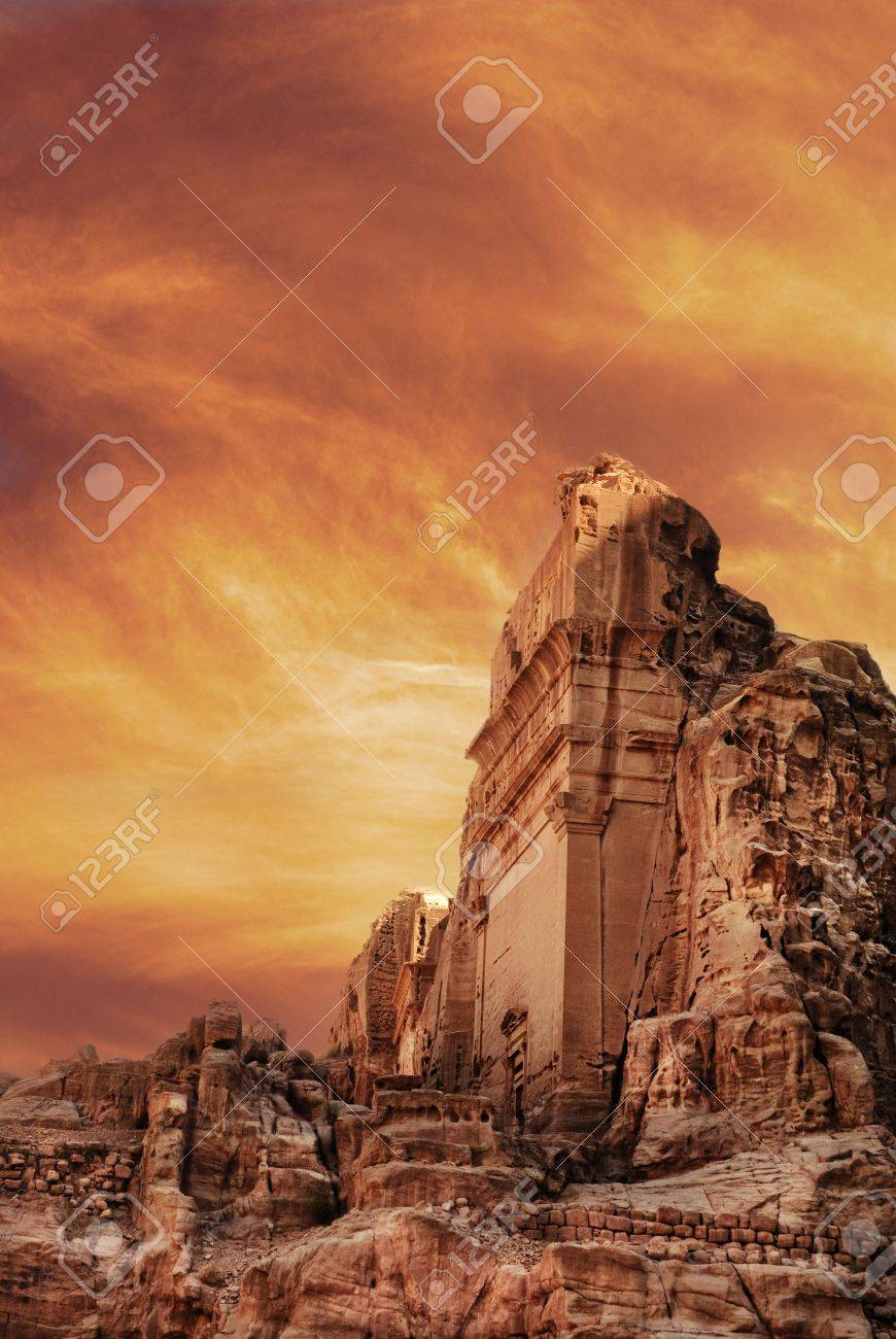 Ancient city of Petra, Jordan - 15405124