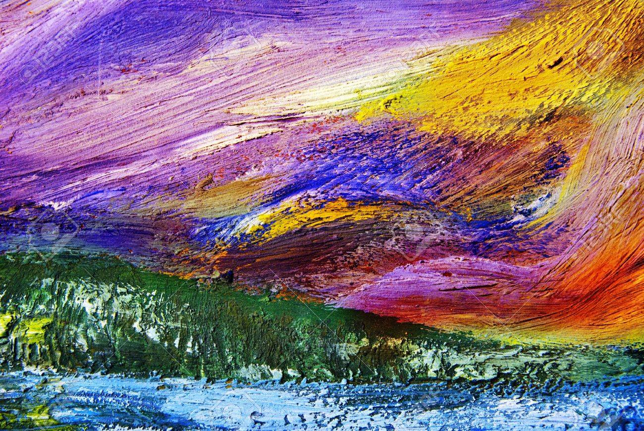 Oil painting texture. Abstract background. - 18465947