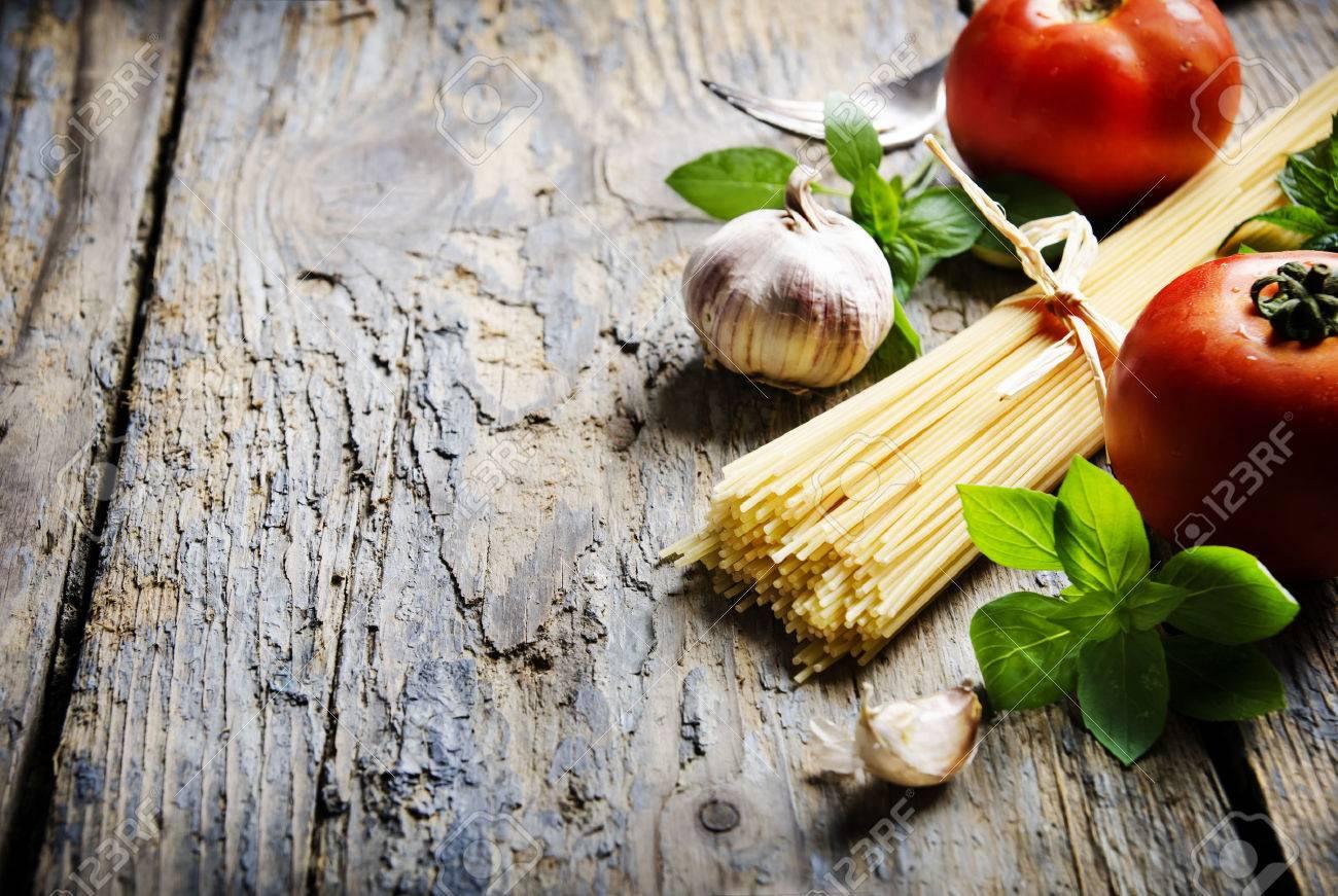Food ingredients for italian pasta - 31528311