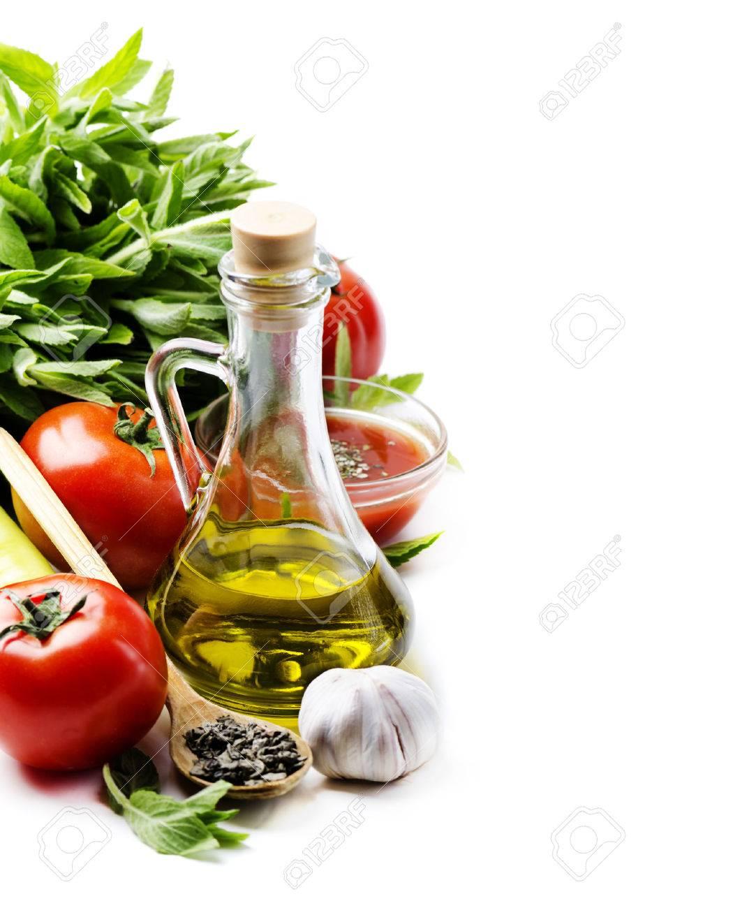 Olio, Oliva, Cibo, La Cucina, Pomodoro, Aglio, Italiano, Sfondo ...