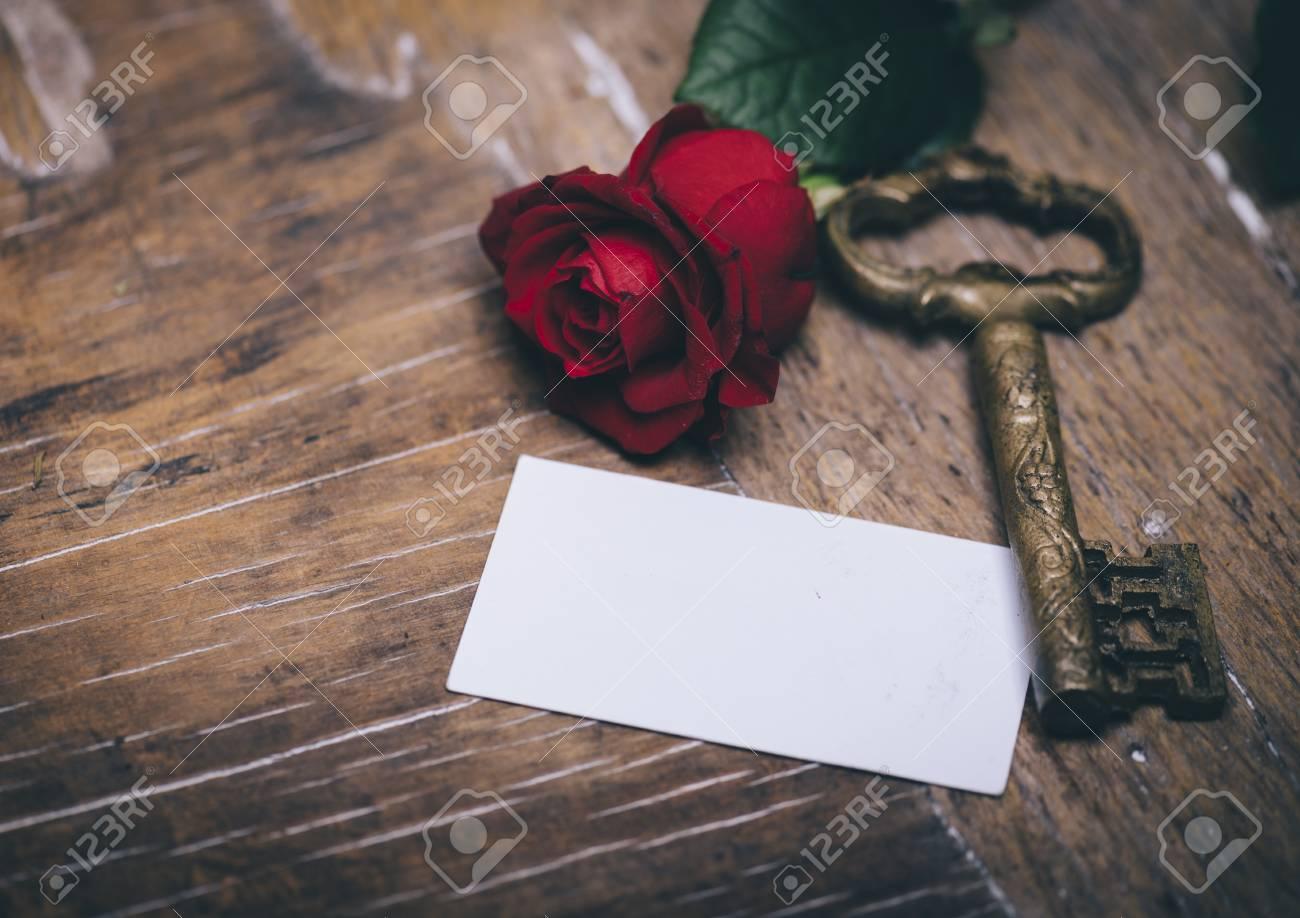 Valentine S Day Still Life Concept Valentine Gift Red Rose