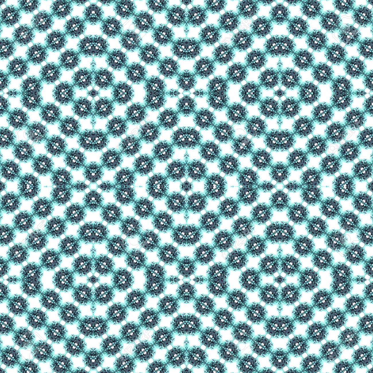 Abstract flowers seamless pattern background. Kaleidoscope from flowers. Hydraulic tile design. - 104074812