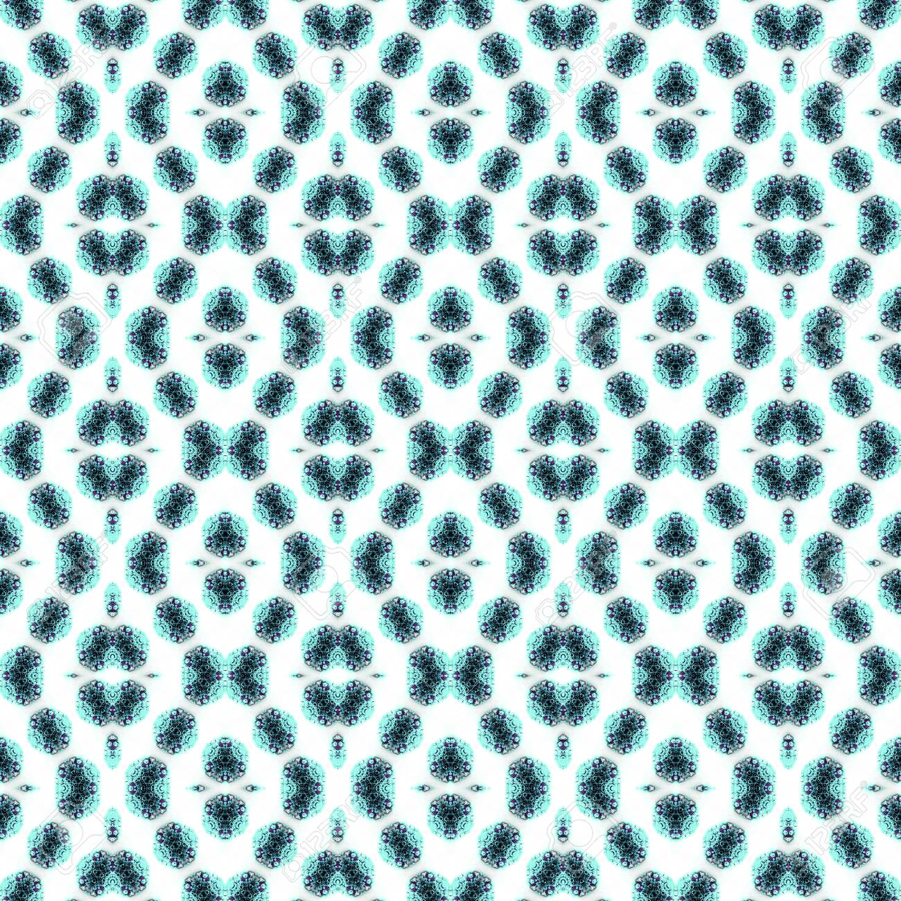 Abstract flowers seamless pattern background. Kaleidoscope from flowers. Hydraulic tile design. - 104074683